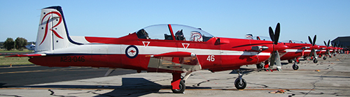 RAAF Roulettes Display Team line-up